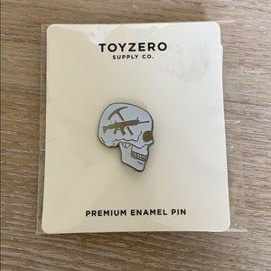 4/$25 SALE | TOYZERO Supply Co. Skull Enamel Pin